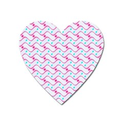 Squiggle Red Blue Milk Glass Waves Chevron Wave Pink Heart Magnet by Mariart