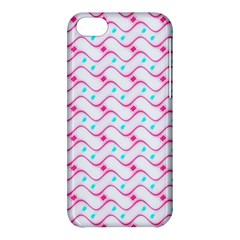Squiggle Red Blue Milk Glass Waves Chevron Wave Pink Apple Iphone 5c Hardshell Case by Mariart