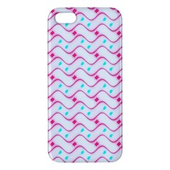 Squiggle Red Blue Milk Glass Waves Chevron Wave Pink Iphone 5s/ Se Premium Hardshell Case by Mariart