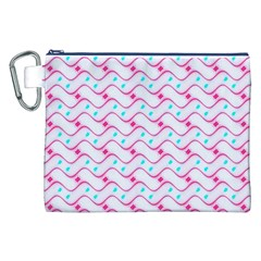 Squiggle Red Blue Milk Glass Waves Chevron Wave Pink Canvas Cosmetic Bag (xxl) by Mariart