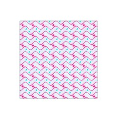 Squiggle Red Blue Milk Glass Waves Chevron Wave Pink Satin Bandana Scarf by Mariart