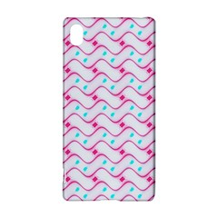 Squiggle Red Blue Milk Glass Waves Chevron Wave Pink Sony Xperia Z3+ by Mariart