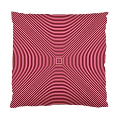 Stop Already Hipnotic Red Circle Standard Cushion Case (two Sides) by Mariart