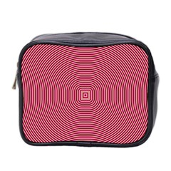 Stop Already Hipnotic Red Circle Mini Toiletries Bag 2 Side by Mariart
