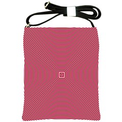 Stop Already Hipnotic Red Circle Shoulder Sling Bags by Mariart