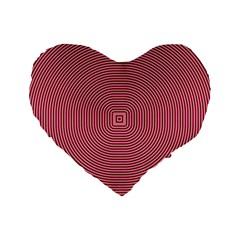 Stop Already Hipnotic Red Circle Standard 16  Premium Flano Heart Shape Cushions by Mariart