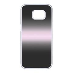 Decorative Pattern Samsung Galaxy S7 Edge White Seamless Case