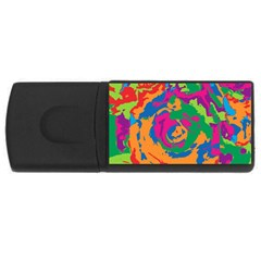 Abstract art USB Flash Drive Rectangular (2 GB) by ValentinaDesign