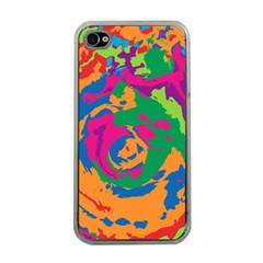 Abstract Art Apple Iphone 4 Case (clear) by ValentinaDesign