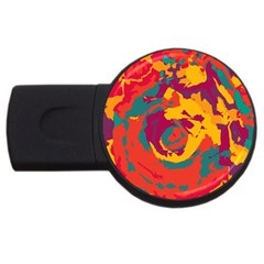 Abstract Art Usb Flash Drive Round (4 Gb) by ValentinaDesign