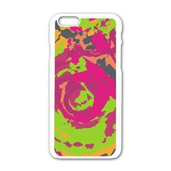 Abstract Art Apple Iphone 6/6s White Enamel Case by ValentinaDesign