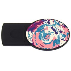 Abstract Art Usb Flash Drive Oval (2 Gb) by ValentinaDesign