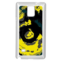 Abstract Art Samsung Galaxy Note 4 Case (white) by ValentinaDesign