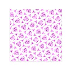 Sweet Doodle Pattern Pink Small Satin Scarf (square)