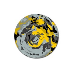 Abstract Art Magnet 3  (round) by ValentinaDesign