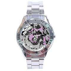 Abstract Art Stainless Steel Analogue Watch by ValentinaDesign