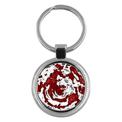 Abstract Art Key Chains (round)  by ValentinaDesign