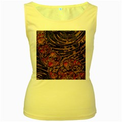 Unique Abstract Mix 1a Women s Yellow Tank Top by MoreColorsinLife