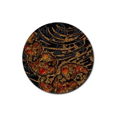 Unique Abstract Mix 1a Rubber Coaster (round)  by MoreColorsinLife