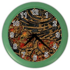 Unique Abstract Mix 1a Color Wall Clocks by MoreColorsinLife