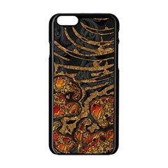 Unique Abstract Mix 1a Apple Iphone 6/6s Black Enamel Case by MoreColorsinLife