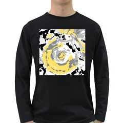 Abstract Art Long Sleeve Dark T Shirts by ValentinaDesign