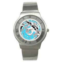 Abstract Art Stainless Steel Watch by ValentinaDesign