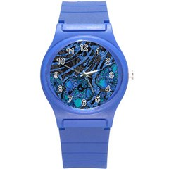 Unique Abstract Mix 1b Round Plastic Sport Watch (s) by MoreColorsinLife