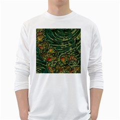 Unique Abstract Mix 1c White Long Sleeve T Shirts by MoreColorsinLife