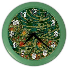 Unique Abstract Mix 1c Color Wall Clocks by MoreColorsinLife