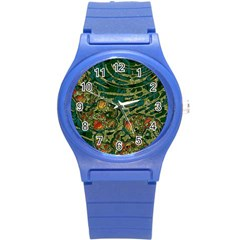Unique Abstract Mix 1c Round Plastic Sport Watch (s) by MoreColorsinLife