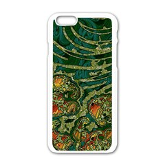 Unique Abstract Mix 1c Apple Iphone 6/6s White Enamel Case by MoreColorsinLife