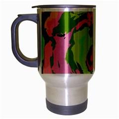 Abstract Art Travel Mug (silver Gray) by ValentinaDesign