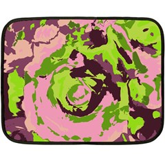 Abstract Art Double Sided Fleece Blanket (mini)  by ValentinaDesign