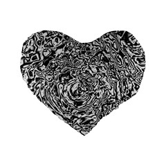 Abstract Art Standard 16  Premium Flano Heart Shape Cushions by ValentinaDesign