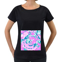 Abstract art Women s Loose-Fit T-Shirt (Black) by ValentinaDesign