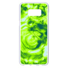 Abstract Art Samsung Galaxy S8 Plus White Seamless Case by ValentinaDesign
