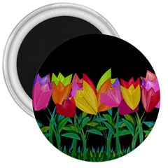 Tulips 3  Magnets by ValentinaDesign