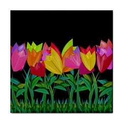Tulips Face Towel by ValentinaDesign