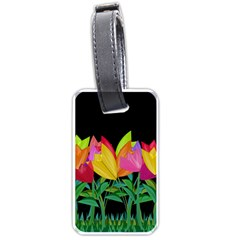 Tulips Luggage Tags (two Sides) by ValentinaDesign