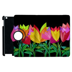 Tulips Apple Ipad 2 Flip 360 Case by ValentinaDesign