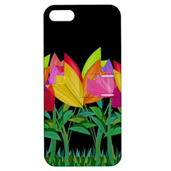 Tulips Apple Iphone 5 Hardshell Case With Stand by ValentinaDesign