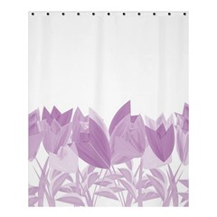 Tulips Shower Curtain 60  X 72  (medium)  by ValentinaDesign