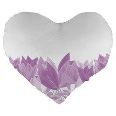 Tulips Large 19  Premium Heart Shape Cushions by ValentinaDesign