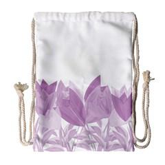 Tulips Drawstring Bag (large) by ValentinaDesign