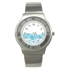 Tulips Stainless Steel Watch by ValentinaDesign