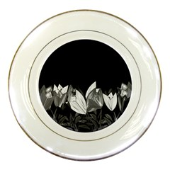 Tulips Porcelain Plates by ValentinaDesign