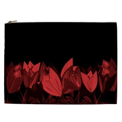 Tulips Cosmetic Bag (xxl)  by ValentinaDesign