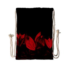 Tulips Drawstring Bag (small) by ValentinaDesign