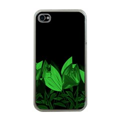 Tulips Apple Iphone 4 Case (clear) by ValentinaDesign